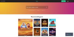 Dunder Casino Homepage